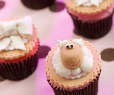 Amusing Sheep Face Muffins