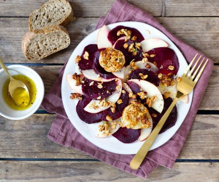 Apple and Beet Carpaccio with Goat Cheese