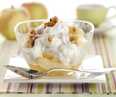 Apple, Cream, and Nut Brittle Layered Dessert