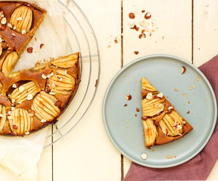 Hazelnut and Apple Cake