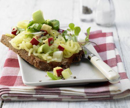 Apple-Marjoram Open Faced Sandwich