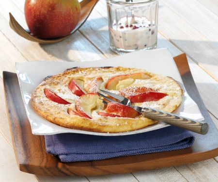Apple Pancakes with Lingonberry Cream