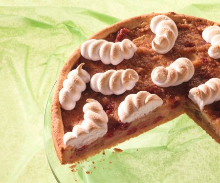 Applesauce and Cranberry Tart with Meringue Topping
