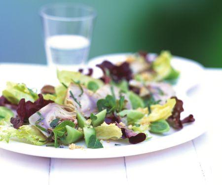 Artichoke Salad with Quinoa and Cucumber