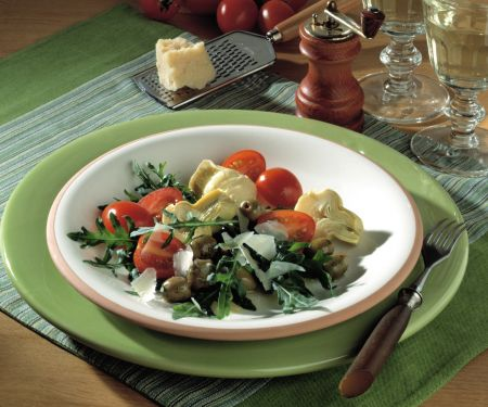 Arugula Salad with Artichokes and Tomatoes