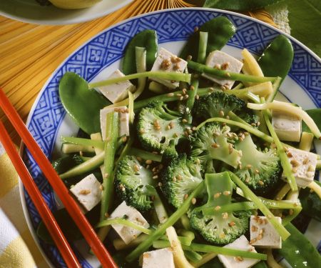 Asian Broccoli Plate with Tofu
