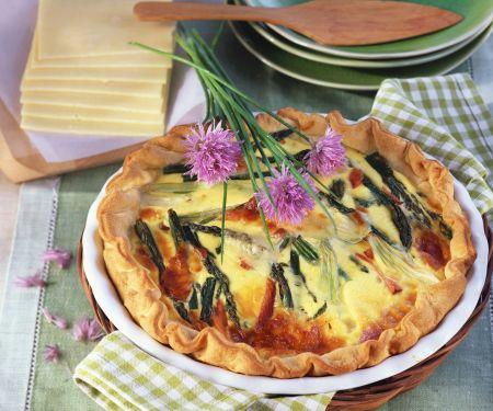 Asparagus and Salmon Quiche