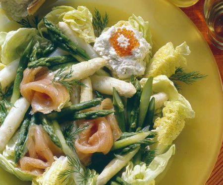 Asparagus Salad with Pickled Salmon