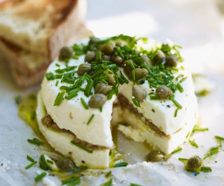 Baked Goat Cheese and Olives