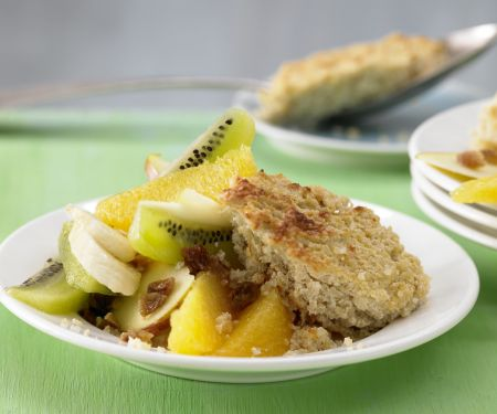 Baked Quinoa with Fruit Salad