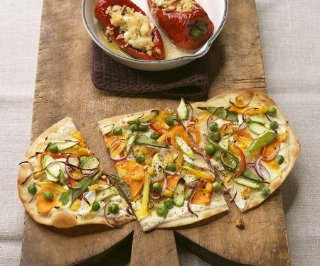 Baked Veggie Flatbread