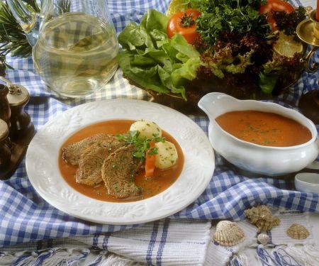 Beef Pot Roast with Vegetable Sauce