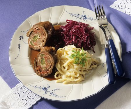 Beef Roulades with Red Cabbage