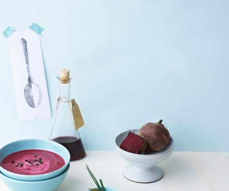 Beet Soup with Sour Cream