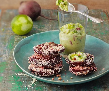 Beets with Sesame Seeds and Guacamole