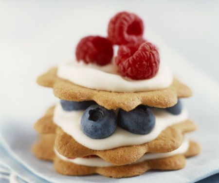Biscuit and Berry Stacks