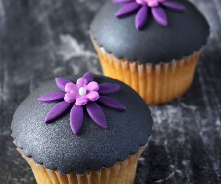Black and Purple Buns