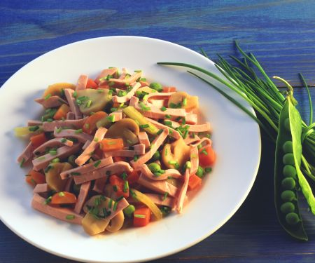 Bologna Vegetable Salad
