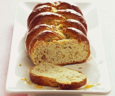 Braided Hazelnut Orange Bread