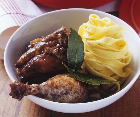 Braised Chicken in Red Wine