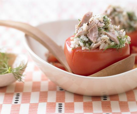 Braised Tomatoes with Herbed Tuna