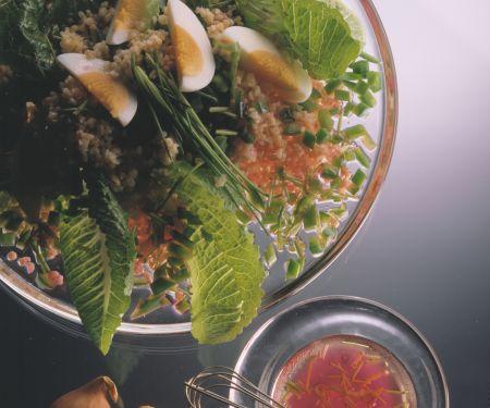 Bulgur Salad Wit Hard Boiled Eggs