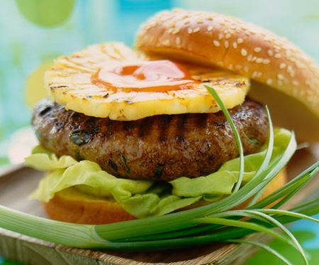 Burger with Pineapple