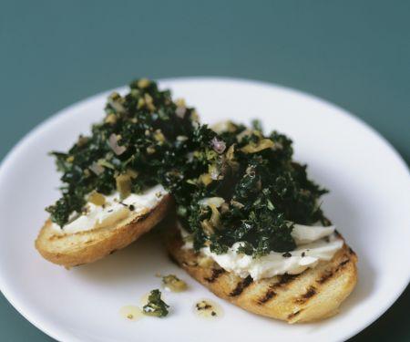 Cabbage and Mascarpone Crostini
