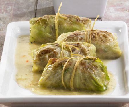 Cabbage Parcels with Mash