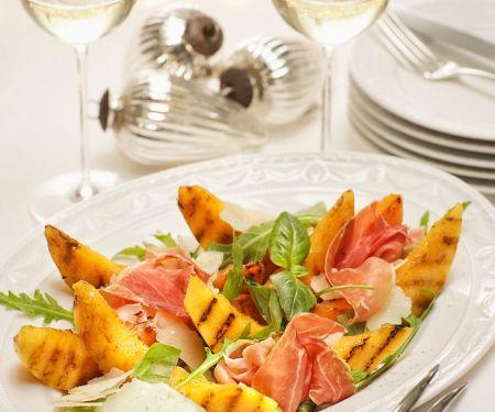 Charred Melon and Prosciutto Platter
