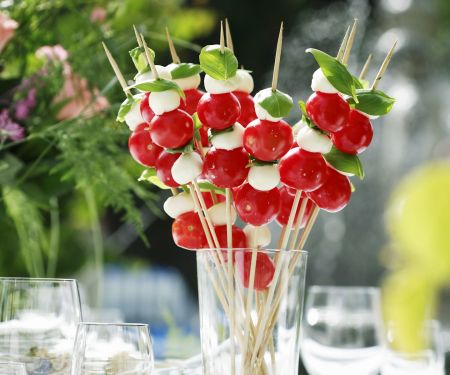 Cheese and Tomato Skewers