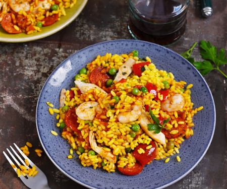Mixed Meat and Seafood Rice