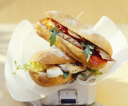 Chicken, Lamb and Rocket Sandwiches