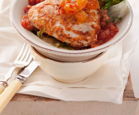 Chicken Piccata with Tomato Sauce