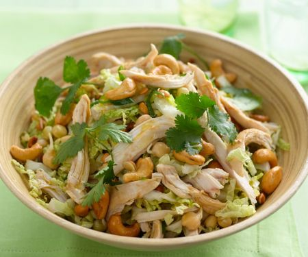 Chicken Salad with Chickpeas and Cashews