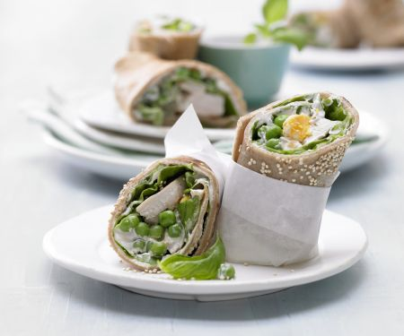 Chicken-Sesame Wraps