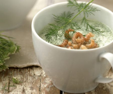 Chilled Cucumber Bisque in Mugs