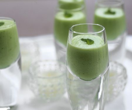 Chilled Cucumber Mint Soup Shooters