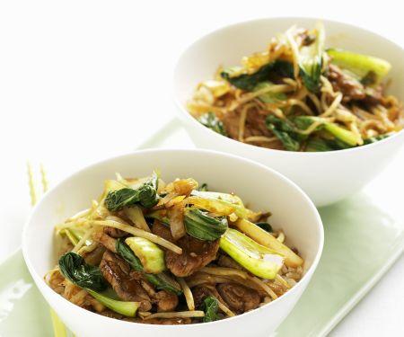 Chinese Pork and Pak Choi Fry