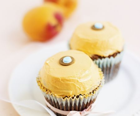 Chocolate Cupcakes with Apricot and Lemon Buttercream