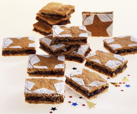 Chocolate, Fruit and Nut Ginger Cake Squares