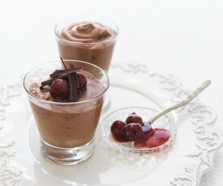 Chocolate Mousse with Cherries