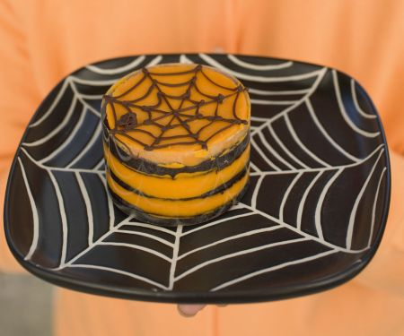 Chocolate Orange Spiderweb Cake