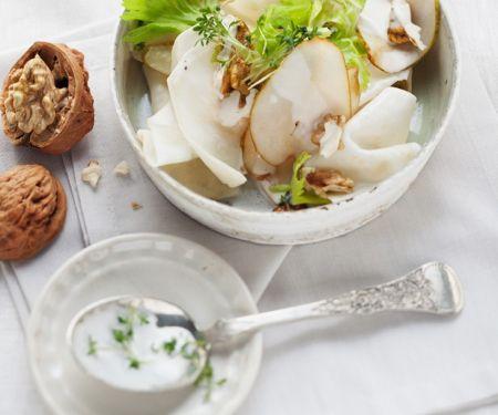 Classic Pear and Walnut Salad