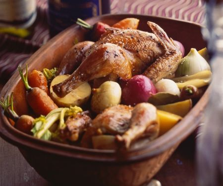 clay pot chicken with vegetables Clay Pot Chicken with Vegetables