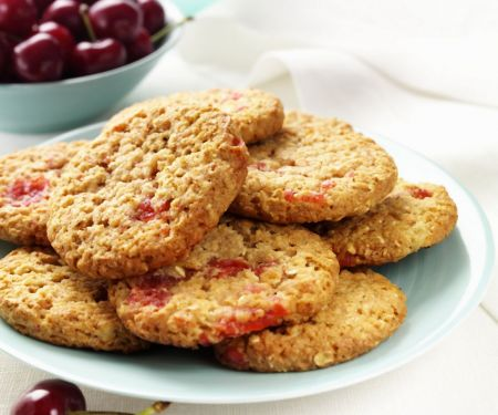 Coconut and Cherry Biscuits