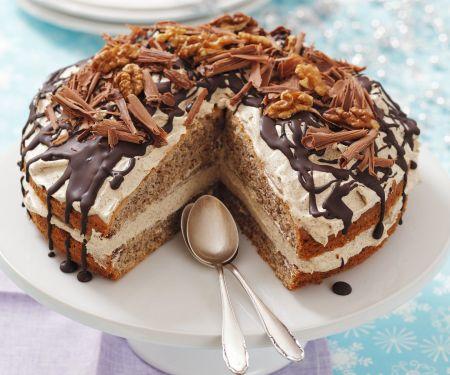 Coffee Cream and Walnut Cake