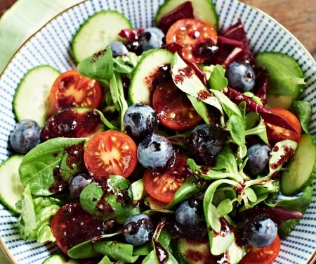 Colorful Salad with Blueberries