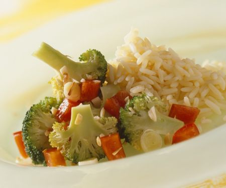 Colorful Vegetables and Rice