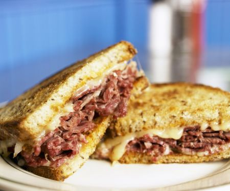 Corned Beef and Gruyere Fried Sandwiches